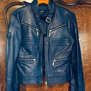 New! Bebe marine blue leather. Size M